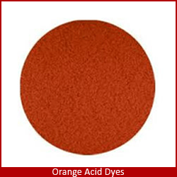 Orange acid dyes in brazil